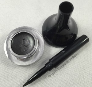 The brush fits into the tip of the liner cover, so you don't have to worry about it splaying in your purse or pouch!