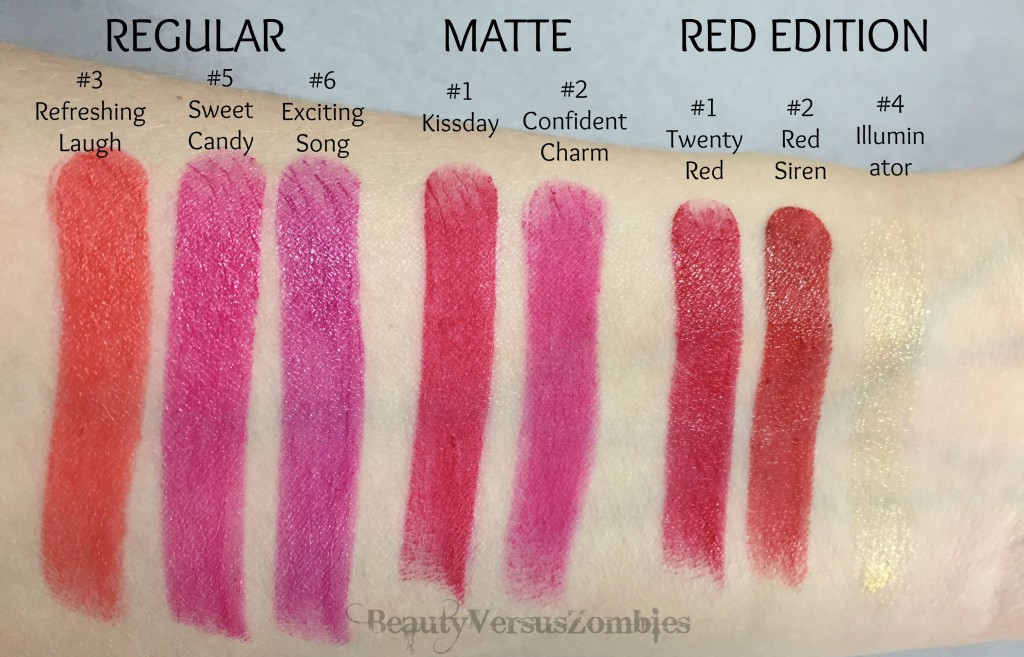 Kiss Button Lips swatches