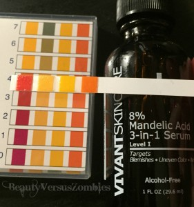 Vivant Serum pH results