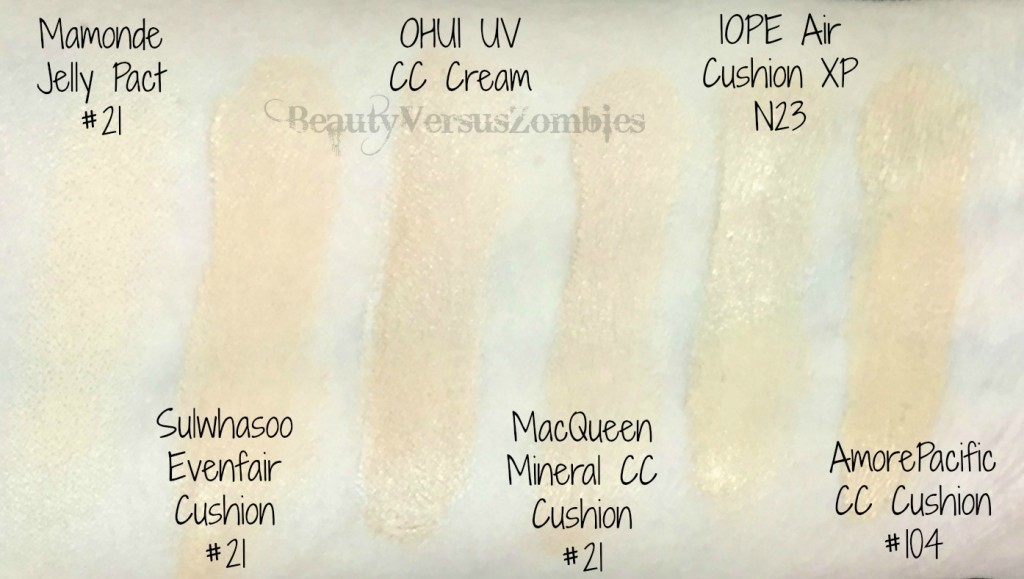 Stash Shop Foundation Swatches #1