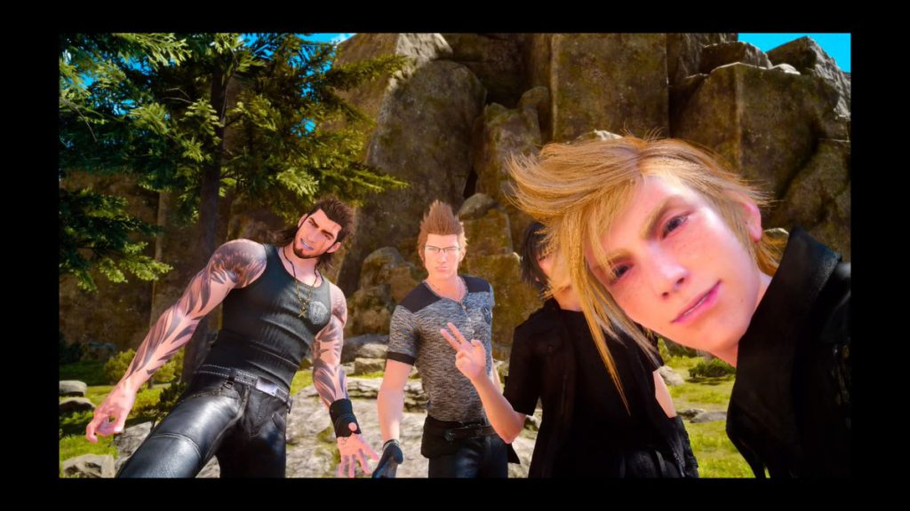 Final Fantasy XV group selfie