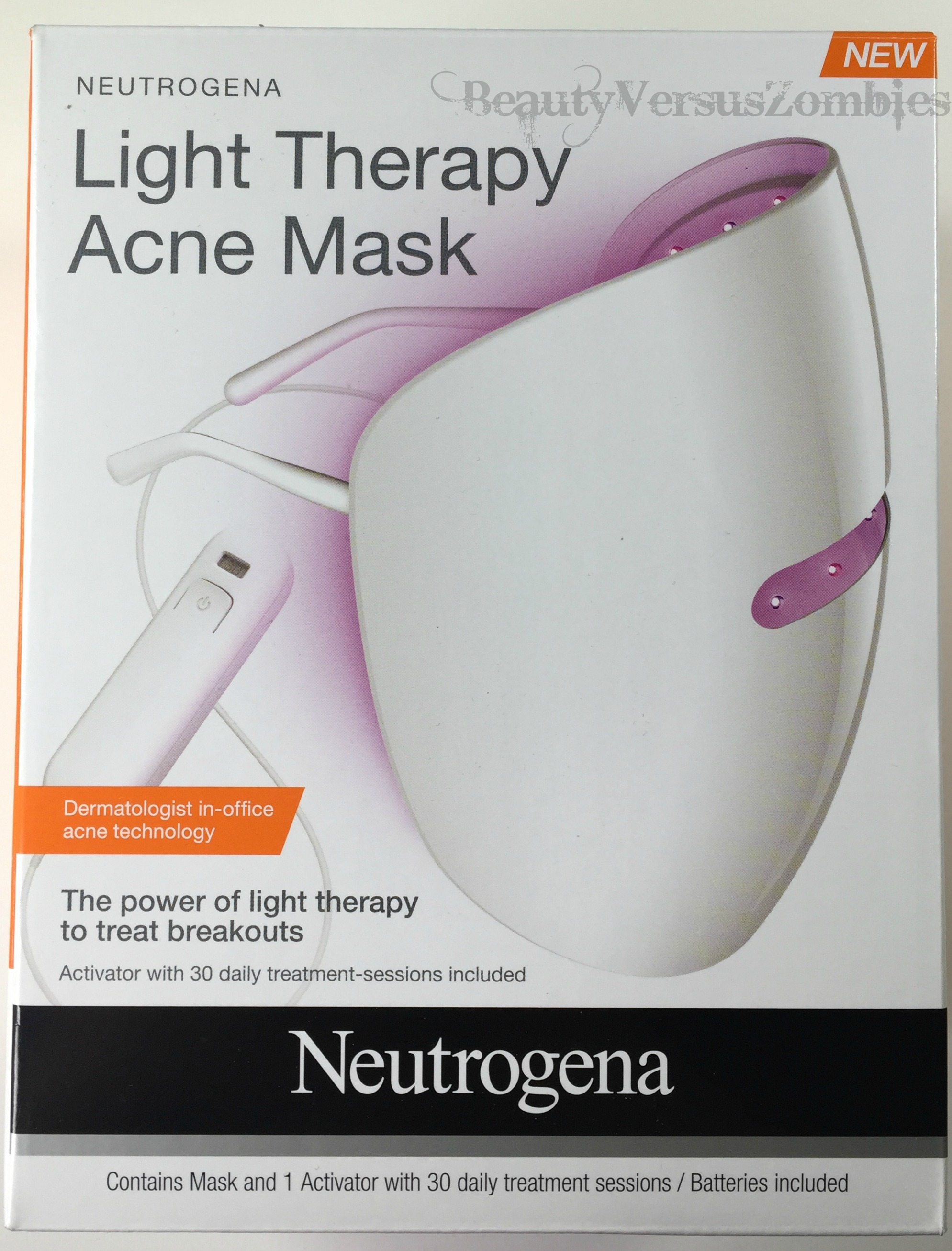 It S All In The Lighting Neutrogena Light Therapy Acne Mask